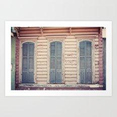 Three Shutters - New Orleans French Quarter Art Print