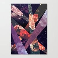 ROSES IN THE GALAXY Canvas Print