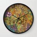 Floral Garden Wall Clock