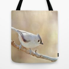 Sunlit Titmouse Tote Bag