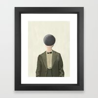 Black Ball Head - iPad Art Framed Art Print