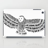 Black and White Barn Owl Beaut iPad Case