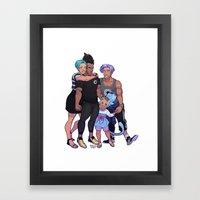 Briefs Family Framed Art Print