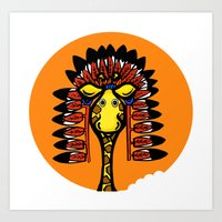 indian giraffe Art Print