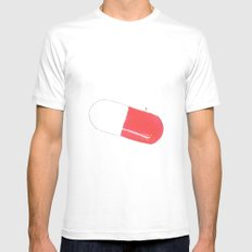 a pill Mens Fitted Tee White SMALL