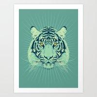 Emerald Tiger Art Print