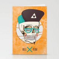 Hell Yeah Skull Stationery Cards