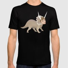Michael Ceratops SMALL Black Mens Fitted Tee
