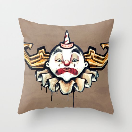 Clown Sad Throw Pillow