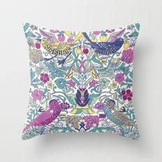 Vintage Bird Throw Pillow