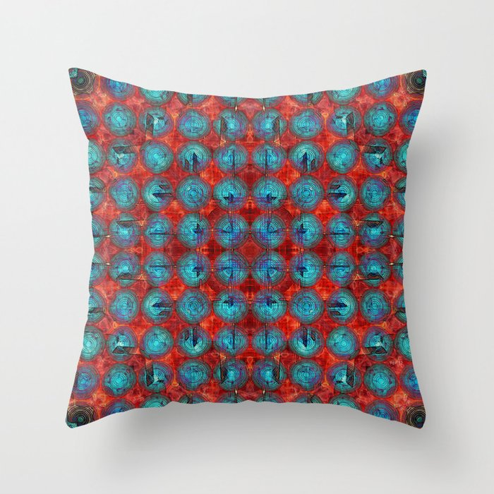 Red and blue abstract throw pillow by phil perkins society6 for Red and blue pillows