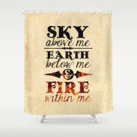 Sky Earth Fire Shower Curtain