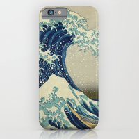 iPhone & iPod Case featuring The Great Wave off Kanagawa by TilenHrovatic