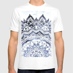 BLUE ORION JEWEL MANDALA Mens Fitted Tee White SMALL