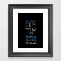 Dear Math (blue)  Framed Art Print