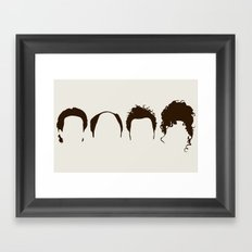 Seinfeld Hair Framed Art Print