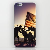 Soldiers Raising An Amer… iPhone & iPod Skin