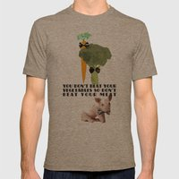 don't beat your meat. Mens Fitted Tee Tri-Coffee SMALL