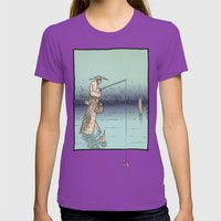 Fishing Womens Fitted Tee Ultraviolet SMALL
