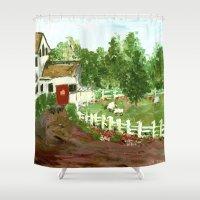 Ash Mill Farm Shower Curtain