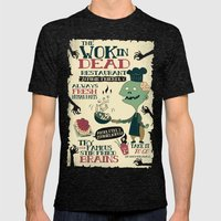 The Wok In Dead (v.2) Mens Fitted Tee Tri-Black SMALL