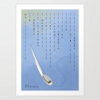 Dodging Raindrops Art Print