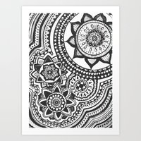 Too Many B&W Art Print