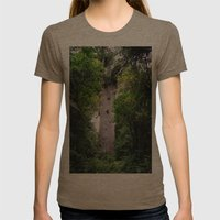 The World's Oldest Wood,… Womens Fitted Tee Tri-Coffee SMALL
