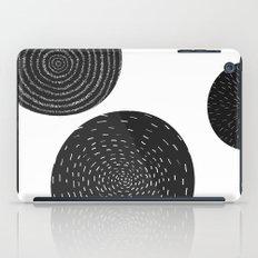 Back and White Retro Mod Flowers by Friztin iPad Case