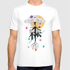 moriforest Mens Fitted Tee White SMALL