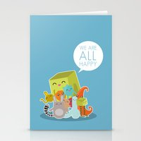 We Are All Happy Stationery Cards