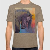 Friesian Mens Fitted Tee Tri-Coffee SMALL