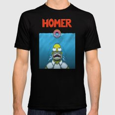 HOMER Mens Fitted Tee SMALL Black