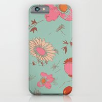iPhone & iPod Case featuring flowers by threequalsquare