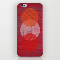 THREE BRICKS ON SPLINTERED WOOD  iPhone & iPod Skin