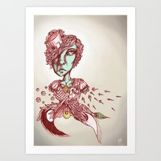 Painted on Both Sides Art Print