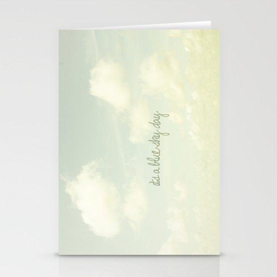 Its a blue sky day II Stationery Card