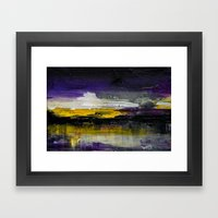 Purple Abstract Landscape Framed Art Print