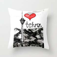 I Love Tehran  Throw Pillow