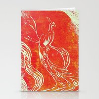 Peacock of Fire Stationery Cards