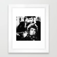bob dylan Traditional Framed Art Print