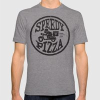 Speedy Pizza Mens Fitted Tee Tri-Grey SMALL
