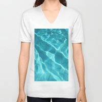 Water / Swimming Pool (Water Abstract) Unisex V-Neck