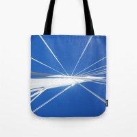 White Suspension Tote Bag