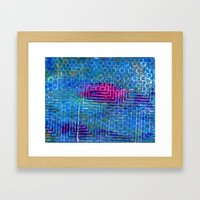 Heat In The Pool Framed Art Print