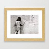 Wall flower girl Framed Art Print