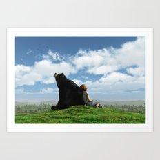 Cloud Watchers Art Print