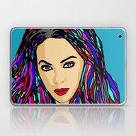 Beautiful Woman In Red C… Laptop & iPad Skin