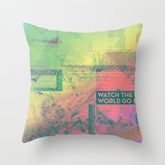 Watch The World Go By Throw Pillow