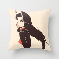 Pretty Lady I Saw On The… Throw Pillow